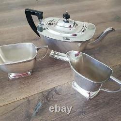 Silver Plated Art Deco Tea Set c. 1930's