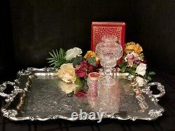 Silver Plated Lg Butlers Serving Tray W&S Blackinton Handled Tea Tray