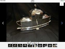 Silver tea set With Tray Looks Like A Boat Gorgeous Design Bought In