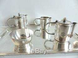 Ss Normandie First Class Very Rare Christofle Luc Lanel Silver Plated Tea Set