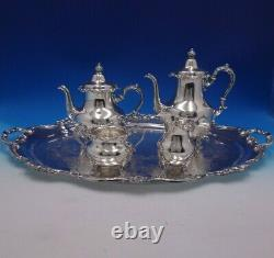 Strasbourg by Gorham Sterling Silver Tea Set 4pc with Silverplate Tray (#4917)
