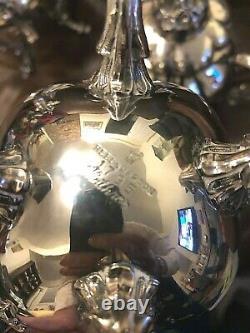 Stunning Reed & Barton Wintrhop 1795 Shield Silverplate Footed Coffee Tea Set