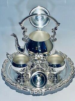 Stunning Vintage Sheridan 4 Pcs Silver Plated English Coffee/Tea Set