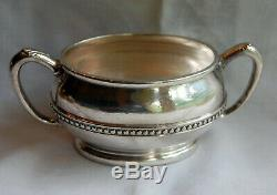 Sugar & Tea Monon Railroad Silverplate By Ohmer Dining Car Service Back Marked