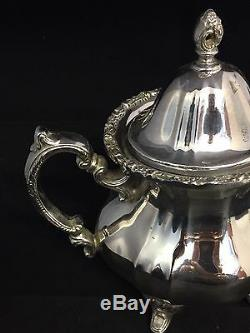 Superb 4 Piece Heavy Towle Silver Plated Tea Service #GT