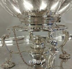 Superb Antique Barker Ellis Silver Plate 7 Pc Tea Set 10.8 kg Phoenix Menorah