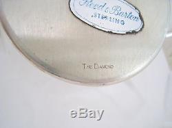 THE DIAMOND Gio Ponti Design Sterling STERLING SILVER TEA SET 1960 Reed & Barton