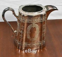 Tea & Coffee Set Silver Plated 1890s Georgian Style