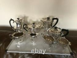 Two 4 Piece Silver Plated Tea/coffee Service One On 4 Feet One Flat Bottomed
