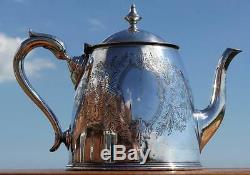 Union Castle Line 1900 Late Victorian Huge 1st Class Silver Plate Tea Urn Pot