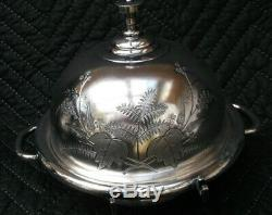 Victorian Antique Meriden B Co Silverplate 5 Pcs. Tea or Coffee Service Set