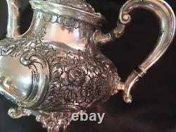Victorian Reed And Barton Ornate Hand Chased Tea Pot