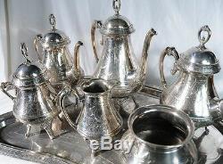 Victorian Silver Plate Tea Set, Silver Plate #4536