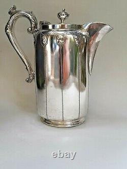 Victorian Silver Plated Antique Coffee Tea Pot Manor Plate Sheffield c1890