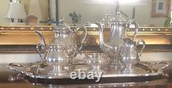 Vintage 1847 Rogers Bros Remembrance 6 Piece Tea Coffee Service + Serving Tray