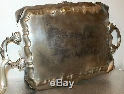Vintage 1940's 6pc. Silver on Copper Coffee & Tea Set. Sheridan Marks