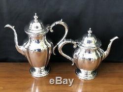 Vintage 1947 Reed & Barton SilverPlate 5 Pc Coffee & Tea Set Silver Service 7030