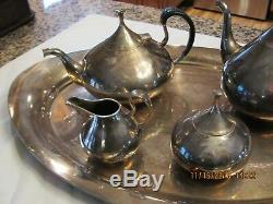 Vintage 1960's John Prip Reed & Barton Mid Century 5 Piece Tea & Coffee Rare