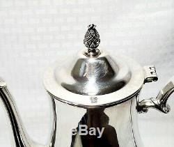 Vintage 4 PC International Silver Co Silver Plate Tea Coffee Pot Cream Sugar Set