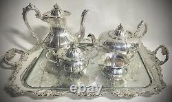 Vintage 5 Piece Silver Tea & Coffee Serving SetAE Poston & Co. Made In England
