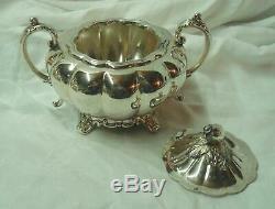 Vintage 5pc. Community MELON Silverplate Tea/Coffee Service Set, Original Tray. NR