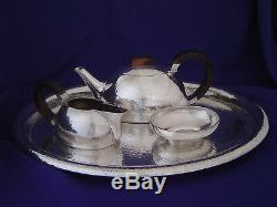 Vintage Arts Crafts Czech Slovak 800 Silver Szandrik Sandrik Deco Coffee Tea Set