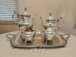 Vintage Birmingham Silver Co Tea and Coffee Service 5 Piece Set Silverplate