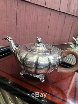 Vintage Community Plate'Old English Melon' Silverplate Tea Set, 1920s-30s