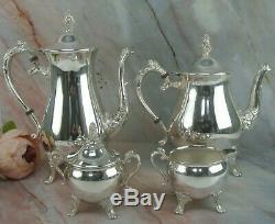 Vintage Gorham Silver Plate Newport Coffee/tea Service Set 4 Pc
