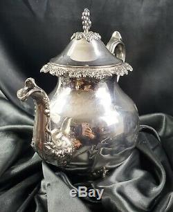 Vintage Grape Vine Silver Plated Tea Set Coffee Service Set Goldfeder Silver Co