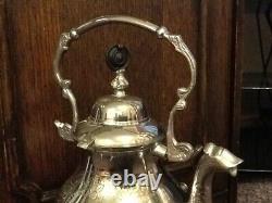 Vintage Indian(Probably) Silver Plate Tilt Tea/Coffee Pot With Burner