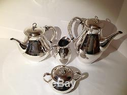Vintage Reed & Barton Americana Silverplate 4 Piece Coffee & Tea Service RARE