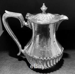 Vintage Santa Fe Dining Car Silver Plated Tea Pot by Harrison Bros & Howson