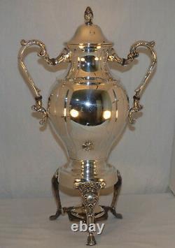 Vintage Sheridan Silver Plated 20 Samovar Coffee Tea Hot Water Urn with Burner
