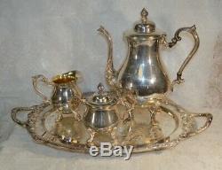 Vintage Sheridan Silver-Plated Four Piece Tea Set
