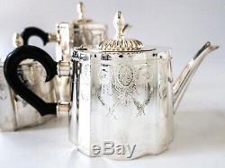 Vintage Silver Plate Coffee Tea Service Set Art Deco Design Great Condition