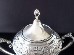 Vintage Silver Plate Samovar Urn Coffee Tea Warmer Hot Water Dispenser And Burne