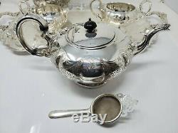 Vintage Silver Plate Tea Coffee Set With Tray 8 pieces marked Marlboro