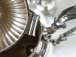 Vintage Silver Plate Tea Service Set Berry Finial Goldfeder Silver Co Gorgeous