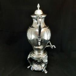 Vintage Silver Plated 20 Samovar Coffee Tea Hot Water/Beverage Urn with Burner