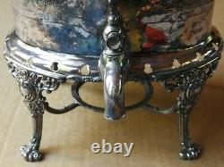 Vintage Silver Plated Metal Tea Water Coffee Warmer With Spigot