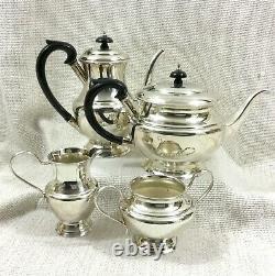 Vintage Silver Plated Tea Set Fleuron French Christofle Teapot Coffee Pot Jug