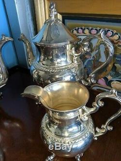 Vintage Silverplate (Silver on Copper) Tea Set by Birmingham