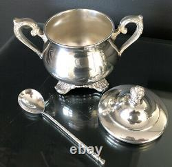 Vintage Victorian Rose WM Rodgers Tea Set with Mounted SBEP Tray 1902 1903 1904