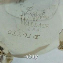 Vintage Wallace Baroque Tea Coffee Set 2 Pitchers Creamer Sugar Bowl Lid Platter