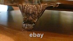 Vintage Wallace Christopher Wren Silver Plated Waiter Tea Service Footed Tray