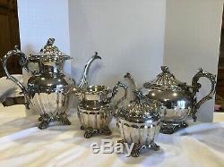 Vtg Goldfelder Silver Co GSX Melon Coffee Tea Cream Sugar Silverplate Set NOmno