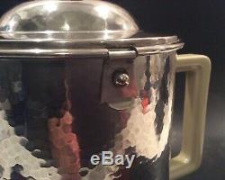 WMF Hammered Silverplate BAUSCHER WEIDEN Porcelain Insulated 1.4L Coffee Tea Pot