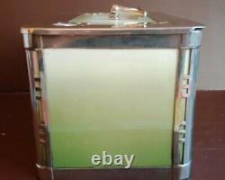 WMF Silver Plate Ceramic Casket BOX Biscuit Lunch Tea Caddy Art Deco Jugendstil