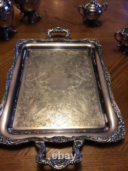 WM Rogers Silver Plate Tea Coffee Service Set. Eagle And Star No. 290